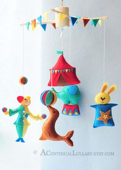 Circus Mobile No.2 by AContinualLullaby on Etsy