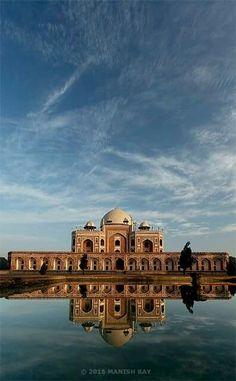 #Humayun tomb #Delhi #India #reflection #cloud