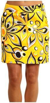 Yellow black and white flower skirt