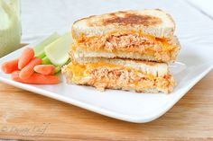 From my friend, the Dainty Chef: Buffalo Chicken Grilled Cheese by daintychef, via Flickr