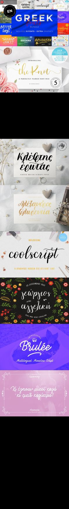 Greek fonts bundle #lettering #greekbrushfont #weddingfont #CalligraphicFont #greekboldfont #ScriptFonts #ScriptFont #greekheadlinefont #greeksvgfont #greekfontduo #weddingfont #weddingfont #greekfontbundle #opentypefont #greekbrushfont #fontsbundle #font #webopenfontformat #beauty Cursive Fonts, Handwritten Fonts, Calligraphy Fonts, Typography Fonts, Typography Design, Lettering, Open Fonts, Bold Fonts, Greek Font