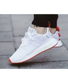 Adidas NMD R2 Primeknit Nomad Snow White Red Trainers Sale UK Adidas Nmd  R1 227782f80d8