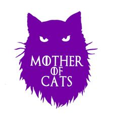 Car Decal Game of Thrones Mother of Cats by HumaniteaseStudio