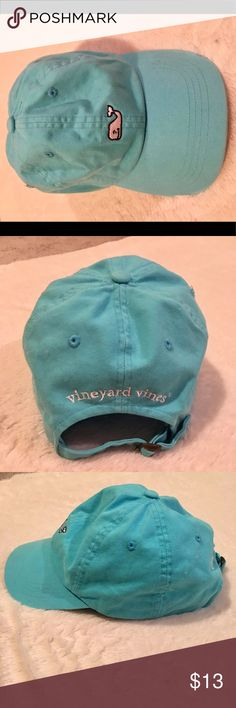 Vineyard vines- Turquoise baseball Hat Vineyard vines- Turquoise baseball Hat. Vibrant color with little white whale emblem in the front. Adjustable cap strap in the back- I think I wore it once... little coloring on the forehead part. Like New!! One size! Vineyard Vines Accessories Hats