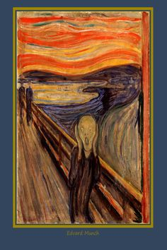 """Awesome tee inspired by """"The Scream"""" by Edvard Munch #art tee #artwears #wearable art #munch Edvard Munch, Cool Tees, Scream, Wearable Art, Inspired, Awesome, Painting, Inspiration, Biblical Inspiration"""