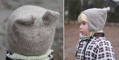 Kitty Hat  A cute hat that might just sail up as you kid's next favourite. Fun to knit, with a great fit. Warming around the ears. Can be ti...