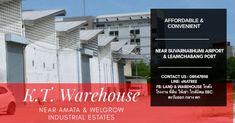 [EEC Warehouse Ready ] โกดังให้เช่าติดบางนา-ตราด ใกล้สนามบินสุวรรณภูมิ แหลมฉบัง ✅สามารถขอใบรง.4 Suvarnabhumi Airport, Wooden Decor, Warehouse, Thailand, Multi Story Building, Industrial, Industrial Music, Magazine, Barn