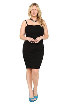 Black rinse pencil dress