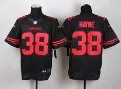 8cbe38418 Nike San Francisco 49ers  38  JerrydHayne Men s Elite black Team Color  Jersey