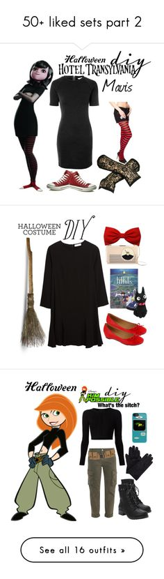 """""""50+ liked sets part 2"""" by starspy ❤ liked on Polyvore featuring Glamorous, Converse, Halloween, vampire, Mavis, halloweencostume, diycostume, Chinti and Parker, Kate Spade and Lena Luisa"""