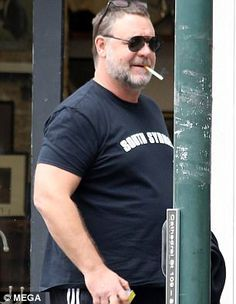 He makes no secret of his support for NRL team South Sydney Rabbitohs. And on Thursday Russell Crowe stepped out  for a haircut and session at the gym wearing a South Sydney T-shirt.