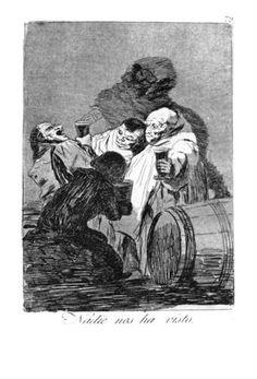 Nadie nos ha visto (No one has seen us) - Los Caprichos No. 79 Francisco Goya