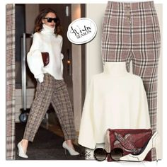 How To Wear How to wear Plaid Trousers Outfit Idea 2017 - Fashion Trends Ready To Wear For Plus Size, Curvy Women Over 20, 30, 40, 50