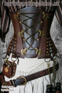 The ultimate Steampunk corset pattern . Be unmissable after making your own uniquely decorated corset. Highly adaptable paper sewing pattern for Steampunk fantasy outfits, gothic, fetish, theatrical, or even alternative weddings. Unique designed Under bust corset pattern with interchangeable centre front panel. Enjoy many different looks from the same corset by making different centres. please see measurement guide to pock the correct sized pattern. Advised for experienced dressmakers...