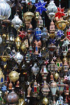 Lanterns, Khan el Khalili Market, Cairo.