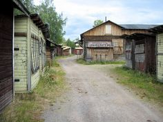 Chantytown Malmberget  Sweden. Kåkstan i Malmberget - Bilder Gällivare, Sverige