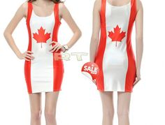 Canada Flag dress ONeck Sleeveless Women Party by CherryAIO, $19.90