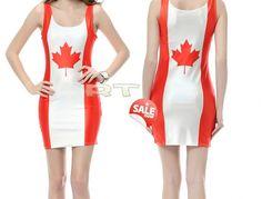 Canada Flag dress ONeck Sleeveless Women Party by CherryAIO, $19.90