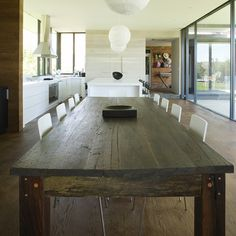Love this rustic table too @Shannon Gooden!  Just what I need for my family gatherings...room for 12 adults!
