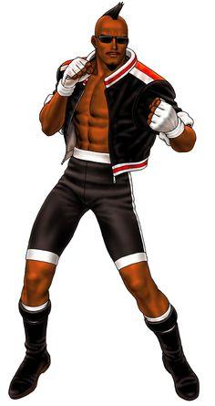 Heavy D - King of Fighters; first appeared in The King of Fighters as the… Art Of Fighting, Fighting Games, Andrew Loomis, Game Character Design, Character Art, Game Design, Snk King Of Fighters, Afro Samurai, Black Comics