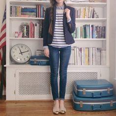 love the jeans + blazer