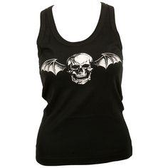 Avenged Sevenfold - Girly-Top - Deathbat - schwarz