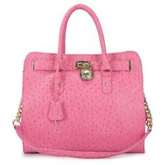 Best Michael Kors Ostrich-Embossed Large Pink Totes Popular In The World
