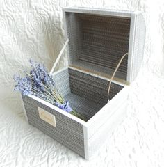 Wedding card box Provence Rustic card box Money box от FreshForest