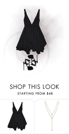 """""""LBD"""" by kennedy45 ❤ liked on Polyvore featuring Yves Saint Laurent, Vince Camuto and Casadei"""