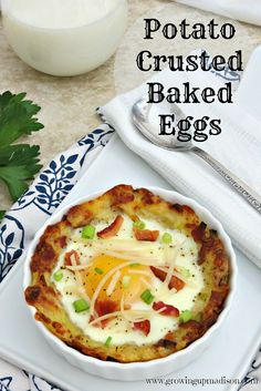 Potato Crusted Baked Eggs *Gluten Free* | Growing up Madison