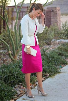 Love this dress and jacket look from Marionberry Style
