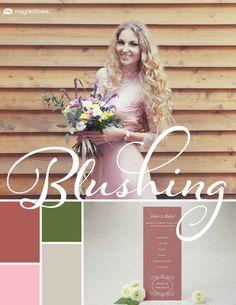 Custom Rose, Olive, Carnation, and Sugar Spring Wedding Color Palette | Wedding Color Trends | MagnetStreet Weddings