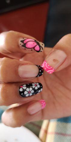 Manicure Y Pedicure, Nail Ideas, Tumblr, Nails, Nail Decals, Nail Arts, Work Nails, Toe Nail Art, Tropical Nail Designs