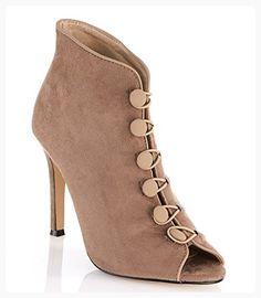 GC Shoes Women's Renee Button Closure Pump (10, Taupe) (*Partner Link)