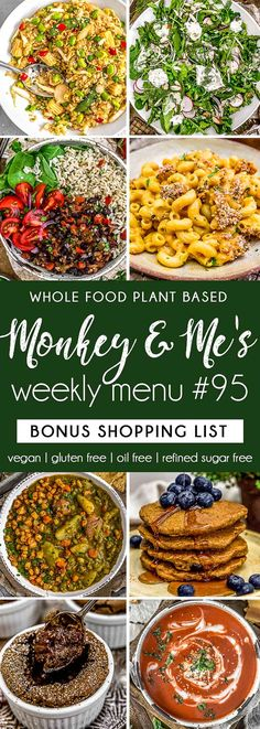 Monkey and Me's Menu 95 features delicious, wholesome recipes! All are Whole Food Plant Based Diet, vegan, oil free, refined sugar free & gluten free. Vegan Brunch Recipes, Healthy Dessert Recipes, Whole Food Recipes, Vegetarian Recipes, Plant Based Whole Foods, Plant Based Diet, Plant Based Recipes, Vegan Party Food, Healthy Sauces