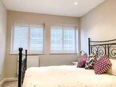 It is our last day before Christmas! If you are interested in discussing shutters and our free installation offer or any of our made to measure blinds please do call our sales team on 0208 662 ⁠ ⁠ ⁠ Bedroom Shutters, Wooden Shutters, Interior Design London, Interior Styling, Made To Measure Blinds, Shutter Blinds, Bedroom Inspo, This Is Us, House Design