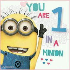 put kids names on smaller minions. Believe in this quote! You are 1 in a million :) Despicable Me Minions Despicable Me Party, Minions Despicable Me, Minion Party, My Minion, Minion Things, Minions 2014, Minion Stuff, Evil Minions, Minion Superhero