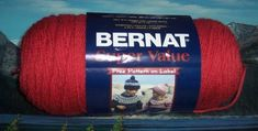 1303348137 Bernat Super Value 7 oz Rouge by LandLCandlesandCraft on Etsy Bernat Super Value Yarn, Acrylic Colors, Knitted Hats, Handmade, Stuff To Buy, Etsy, Red, Hand Made, Knit Caps
