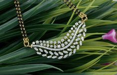 Diamond Pendant Necklace, Diamond Bracelets, Diamond Jewellery, Gold Jewelry, Jewelery, Bangles, Diamond Mangalsutra, Gold Mangalsutra Designs, Chain Pendants