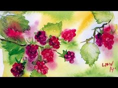 How To Paint Raspberries in Watercolor - YouTube