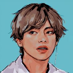 """""""my pieces for the thank you so much for your hard work 💕"""" Fanart Bts, Taehyung Fanart, Pretty Art, Cute Art, Kpop Drawings, Poses References, Fanarts Anime, Beautiful Drawings, Aesthetic Art"""