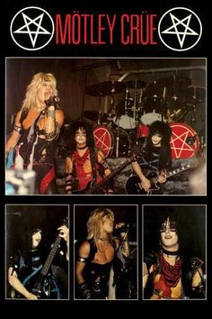 Motley Crue shout at the devil era! 80s Hair Metal, Hair Metal Bands, 80s Hair Bands, Nikki Sixx, Girls Girls Girls, Glam Metal, Tommy Lee, Glam Rock, Autos Ford