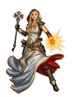 Female Cleric - Pathfinder PFRPG DND D&D d20 fantasy