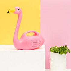 Your plants will give our fabulous SunnyLife Pink Flamingo Watering Can two enthusiast green thumbs up!  What the flock, you say? Just try and see!