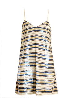 Striped sequin-embellished mini dress | Ashish | MATCHESFASHION.COM