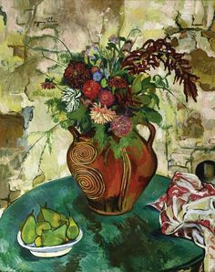 Suzanne Valadon (French painter) 1865 - 1938 Nature Morte aux Fleurs et Fruits, 1932 oil on canvas 36 1/4 x 28 3/4 in. (92 x 73 cm.)