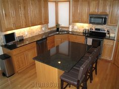 Kitchen Backsplash With Black Granite Countertops backsplash ideas for black granite countertops and maple cabinets