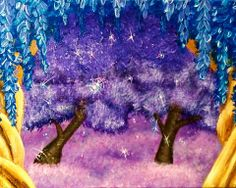 """""""Heaven's Playground"""" Acrylic on stretched canvas. © 2013 Julie Joaquin."""