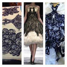 Custom McQueen Inspired Wedding Dress