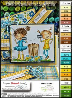 Passionate Paper Creations: Tin Can Chit Chat - Sugar Pea Designs Copic Markers Tutorial, Copic Sketch Markers, Free Coloring, Coloring Pages, Copic Marker Color Chart, Blending Markers, Tiddly Inks, Copic Art, Color Of The Day